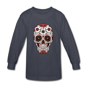 Sugar Skull - Day of the Dead #7 - Kids' Long Sleeve T-Shirt