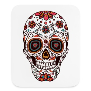 Sugar Skull - Day of the Dead #7 - Mouse pad Vertical