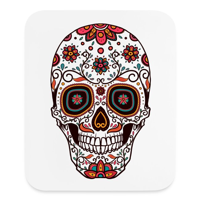 Crmn Sugar Skull Day Of The Dead 7 Mouse Pad Vertical