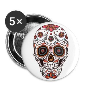 Sugar Skull - Day of the Dead #7 - Small Buttons