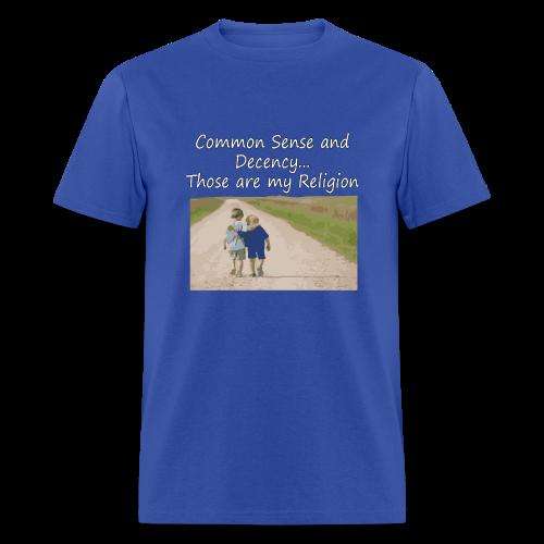 Common Sense is my Religion (men's products) - Men's T-Shirt