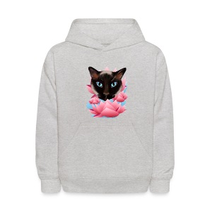 Cat From The Land of Lotus - Kids' Hoodie