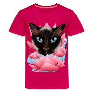 Cat From The Land of Lotus - Kids' Premium T-Shirt