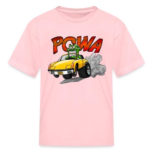 POWA + Kid's Name on the back - Kids' T-Shirt