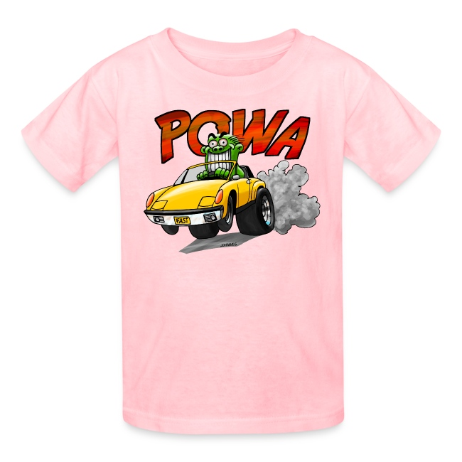 POWA + Kid's Name on the back