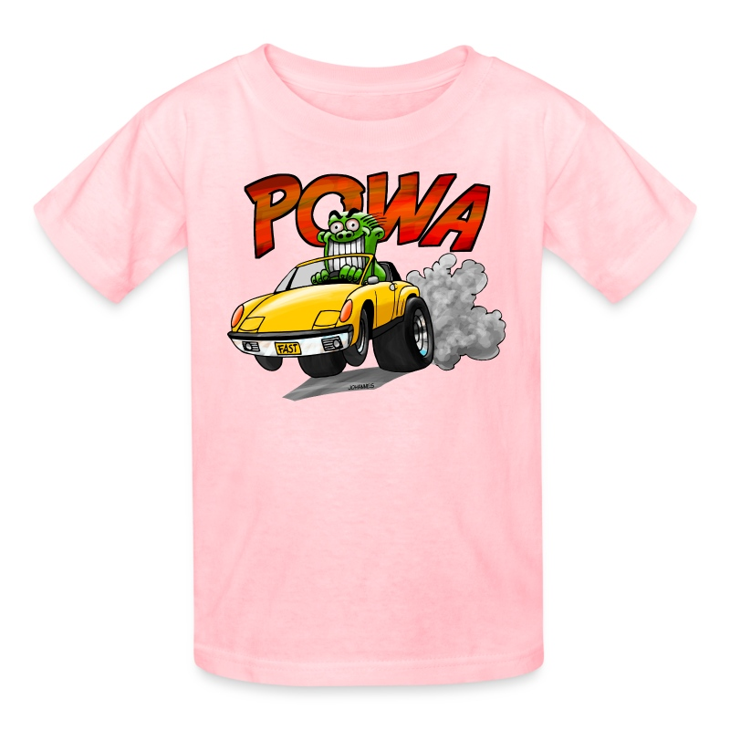 POWA + Kid's Name on the back - Kids' T-Shirt