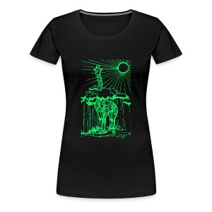 Sunshine day giraffe  - Women's Premium T-Shirt