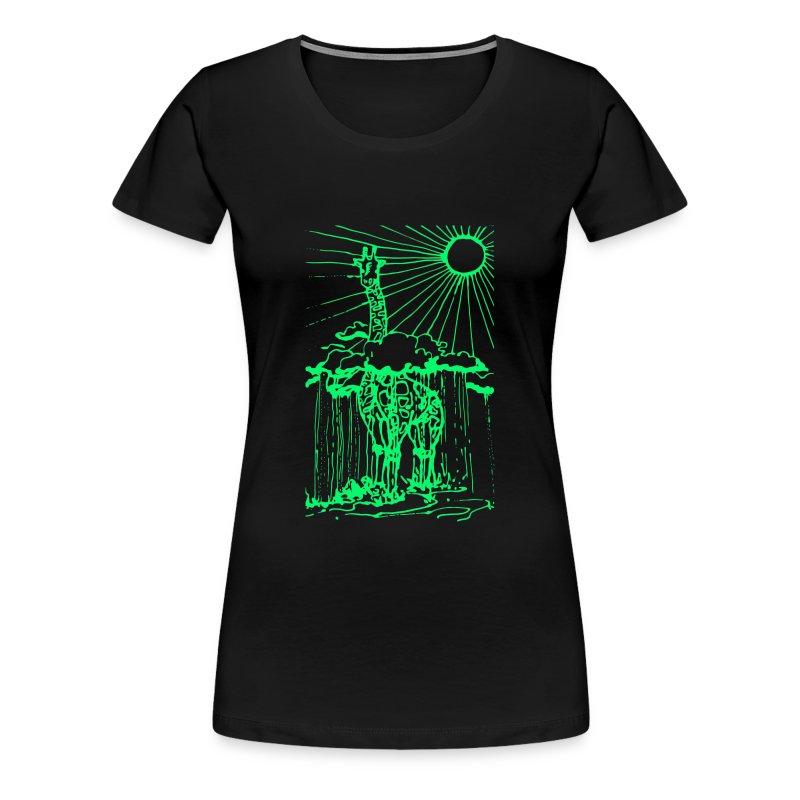 Sunshine day giraffe  - Women's Premium T-Shirt