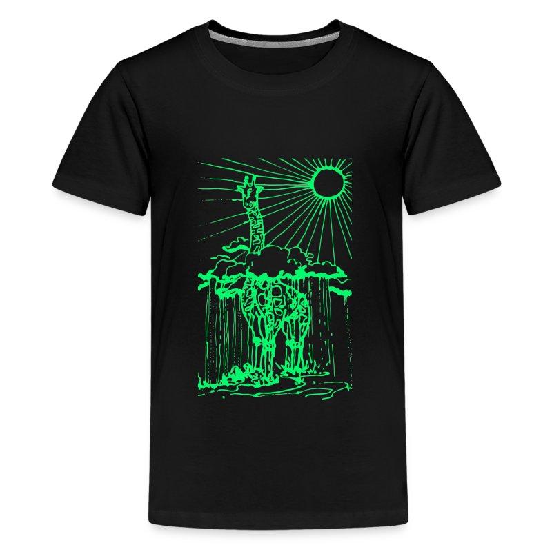 Sunshine day giraffe  - Kids' Premium T-Shirt