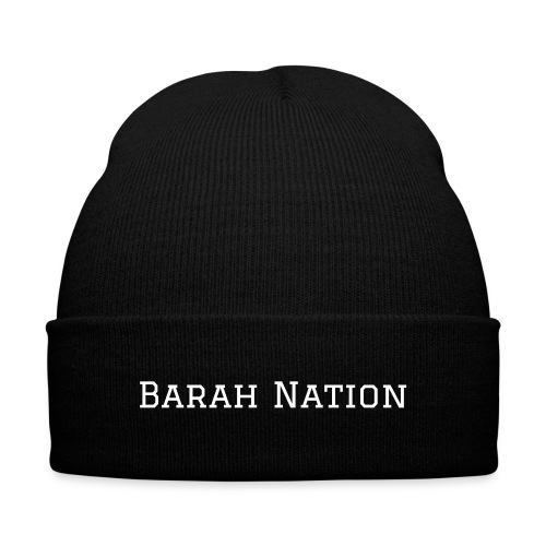 Barah Nation Knit Cap - Knit Cap with Cuff Print