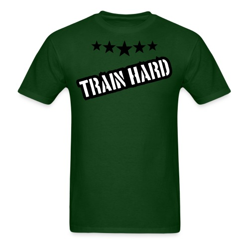 Mens Train hard tshirt - Men's T-Shirt