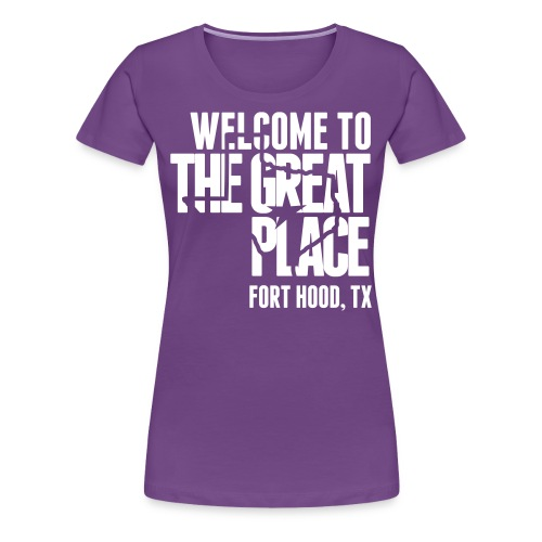 The Great Place - Women's White Print (Choose shirt color!) - Women's Premium T-Shirt