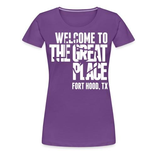 The Great Place - Women's White Print (Choose shirt color!) - Women's Premium T-Shirt
