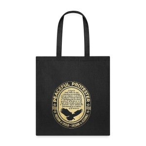 First Amendment Protester Peaceful - Tote Bag