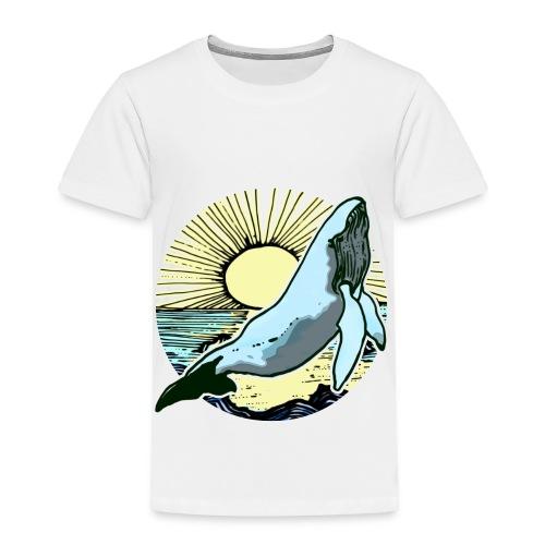 Sun rise whale  - Toddler Premium T-Shirt