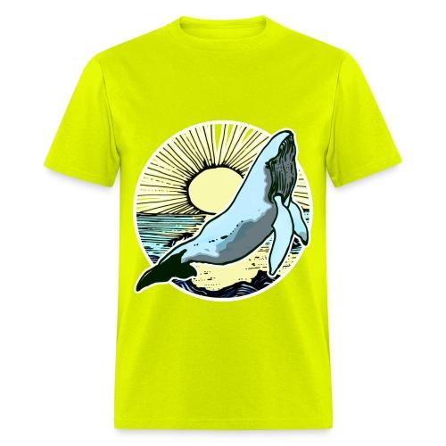 Sun rise whale  - Men's T-Shirt