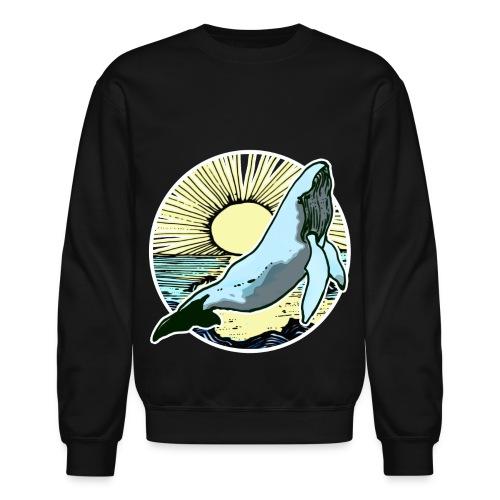 Sun rise whale  - Crewneck Sweatshirt