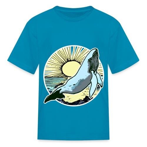 Sun rise whale  - Kids' T-Shirt