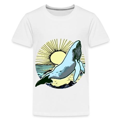 Sun rise whale  - Kids' Premium T-Shirt