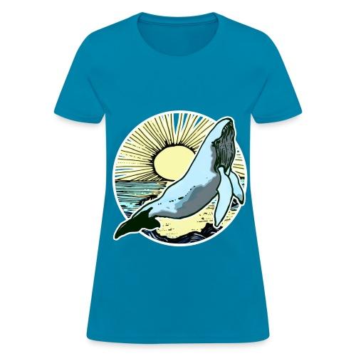 Sun rise whale  - Women's T-Shirt