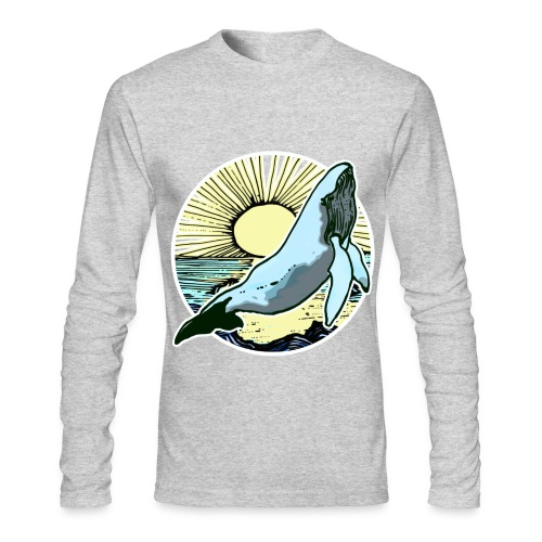 Sun rise whale  - Men's Long Sleeve T-Shirt by Next Level