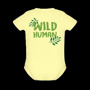 Wild Human Baby One Piece    - Short Sleeve Baby Bodysuit