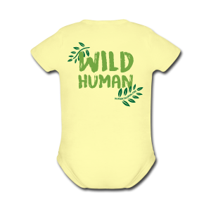 Wild Human Baby One Piece    - Short Sleeve Baby Bodysuit