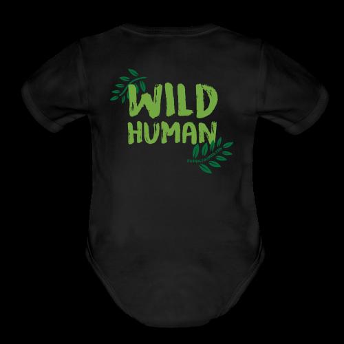 Wild Human Baby One Piece    - Organic Short Sleeve Baby Bodysuit
