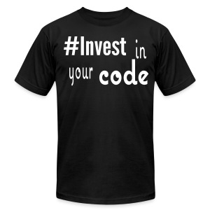 #Invest Code Shirt - Men's T-Shirt by American Apparel