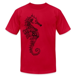South Seas Seahorse Men's T-Shirt by American Apparel - Men's T-Shirt by American Apparel
