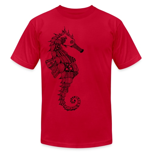 South Seas Seahorse Men's T-Shirt by American Apparel - Men's Fine Jersey T-Shirt