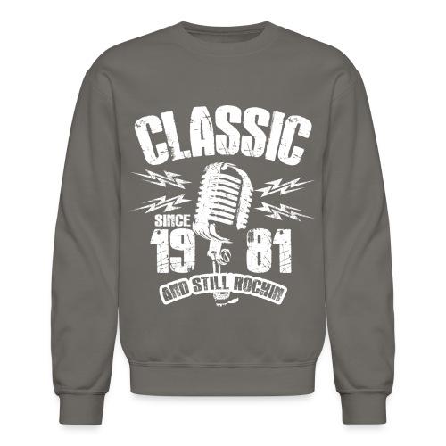 Classic Since 1981 Long Sleeve Shirts - Crewneck Sweatshirt
