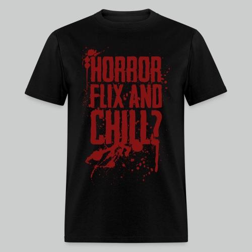 Horror Flix and Chill - Men's Black Tee - Men's T-Shirt
