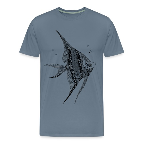Angel Fish Tribal Men's Premium T-Shirt from South Seas Tees - Men's Premium T-Shirt