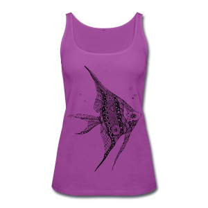 Angel Fish Tribal Women's Premium Tank Top from South Seas Tees - Women's Premium Tank Top