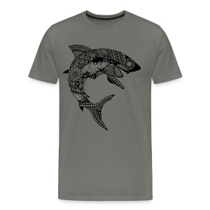 Tribal Shark Men's Premium T-Shirt from South Seas Tees - Men's Premium T-Shirt