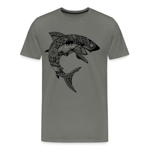 Tribal Shark Men's Premium T-Shirt from South Seas Tees - Men's Premium T-Shirt