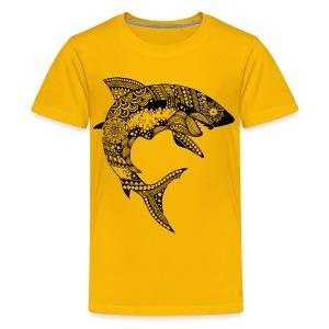Tribal Shark Kids Premium T-Shirt from South Seas Tees - Kids' Premium T-Shirt