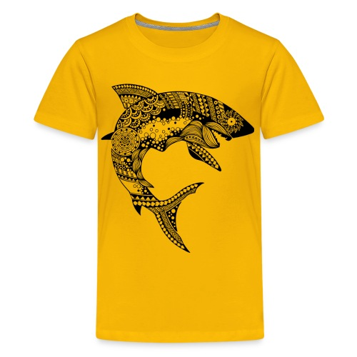 Tribal Shark Kids Premium T-Shirt from South Seas Tees - Kids' Premium T-Shirt