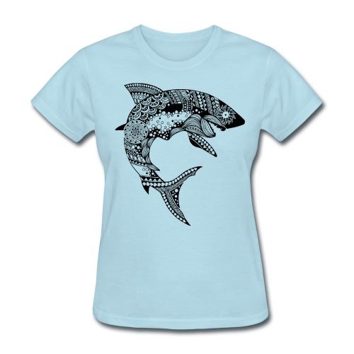 Tribal Shark Women´s Tshirt from South Seas Tees - Women's T-Shirt