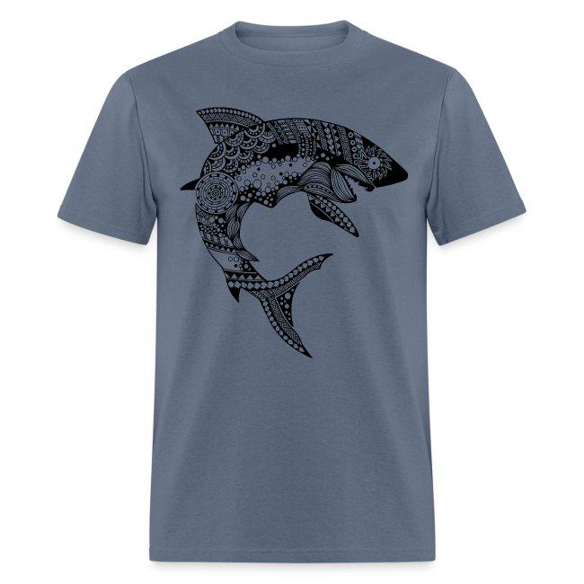 Tribal Shark Men´s Tshirt from South Seas Tees