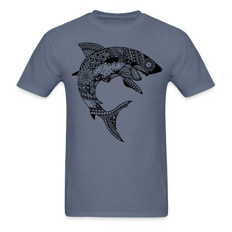 Tribal Shark Men´s Tshirt from South Seas Tees - Men's T-Shirt