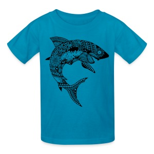 Tribal Shark Kids T-Shirt from South Seas Tees - Kids' T-Shirt