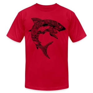 Tribal Shark Men's T-Shirt from South Seas Tees - Men's T-Shirt by American Apparel