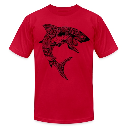 Tribal Shark Men's T-Shirt from South Seas Tees - Men's Fine Jersey T-Shirt