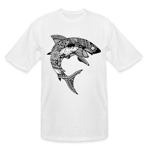 Tribal Shark Men's Tall T-Shirt from South Seas Tees - Men's Tall T-Shirt