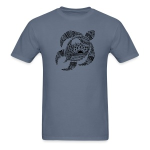 Tribal Turtle Men's T-Shirt from South Seas Tees - Men's T-Shirt