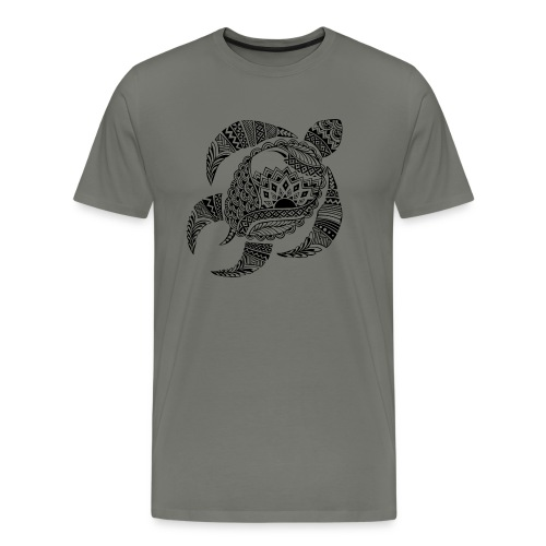 Tribal Turtle Men's Premium T-Shirt from South Seas Tees - Men's Premium T-Shirt