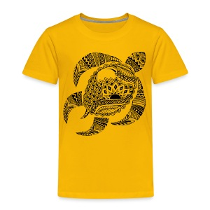 Tribal Turtle Toddler T-Shirt from South Seas Tees - Toddler Premium T-Shirt