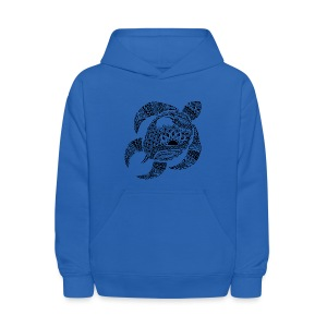 Tribal Turtle Kids Hoodie from South Seas Tees - Kids' Hoodie